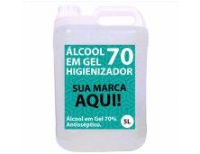 Álcool em Gel 70% 5 Litros GALÃO CR050 Personalizado