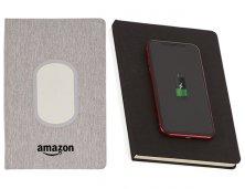Caderno Com Carregador Por Indução 250NA Personalizado