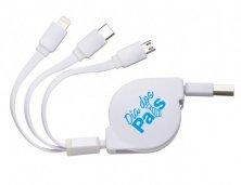 Cabo USB Retrátil 3 Funções 338 Personalizado