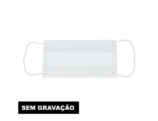 Máscara Descartável Camada Tripla com Clipe Nasal(SEM GRAVAÇÃO) 11775